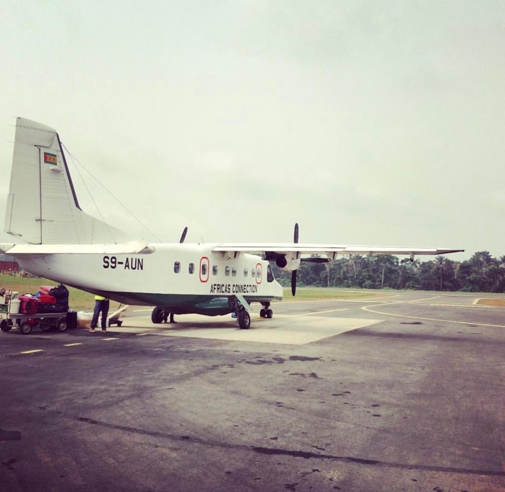 Mini plane in S. Tome and Principe
