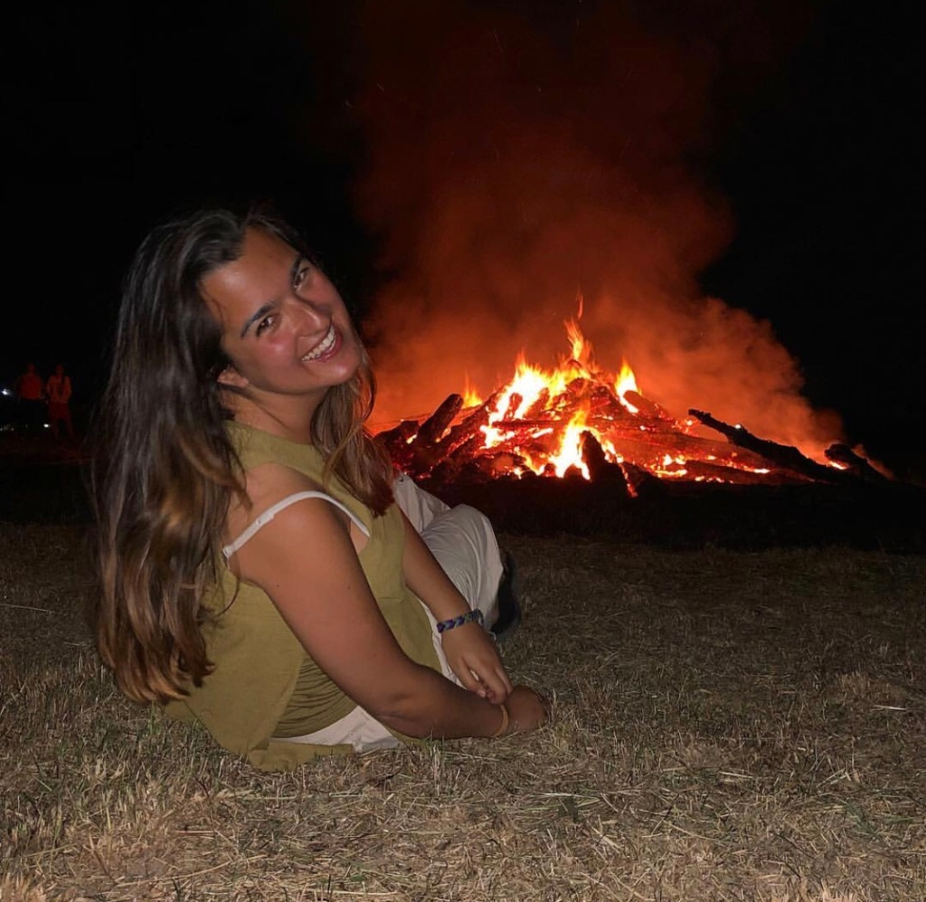 Girl by the bonfire , Slovenia