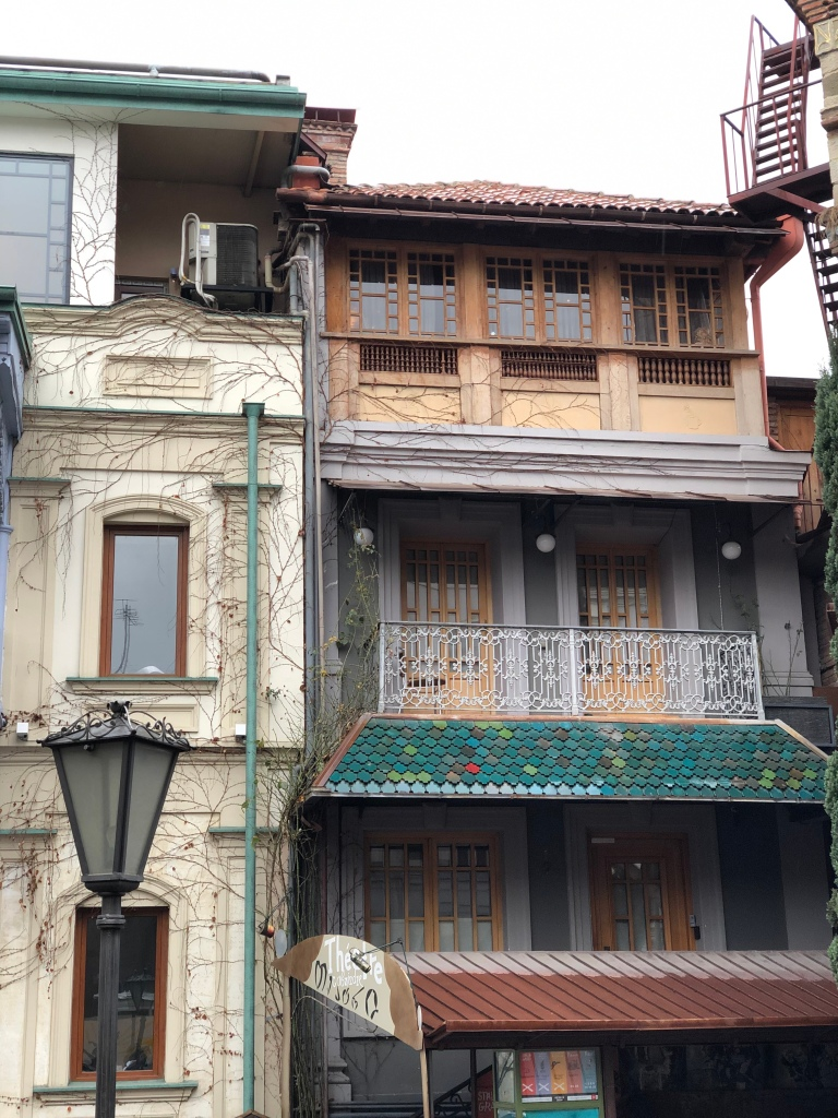 Old traditional houses in Tbilisi, Georgia