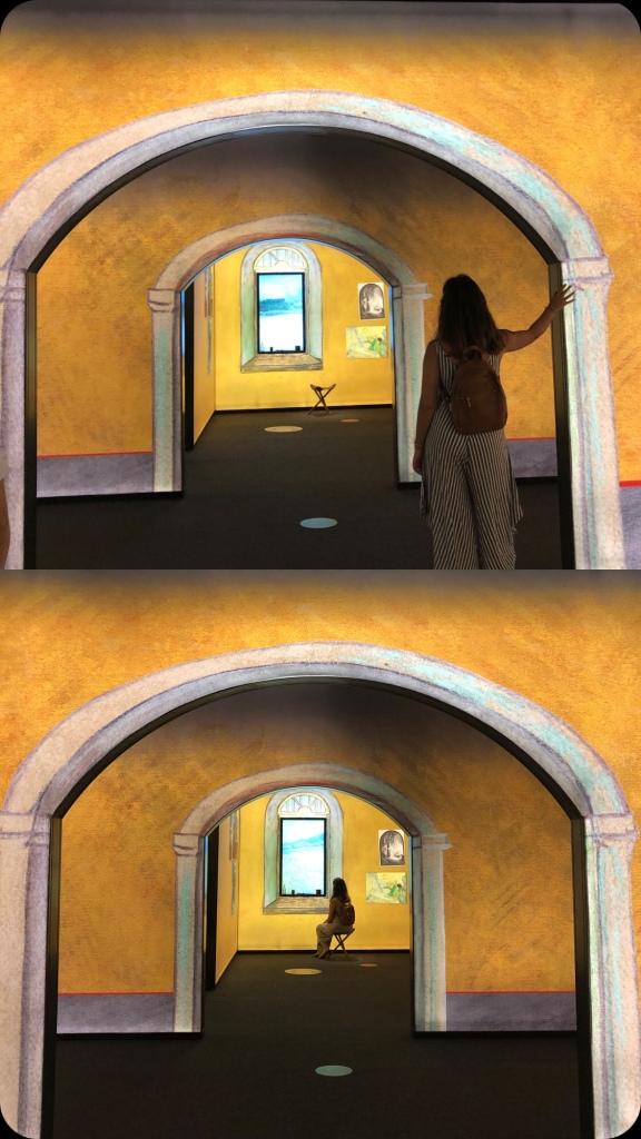 SunflowVan Gogh. Art illusion. Immersive art experience