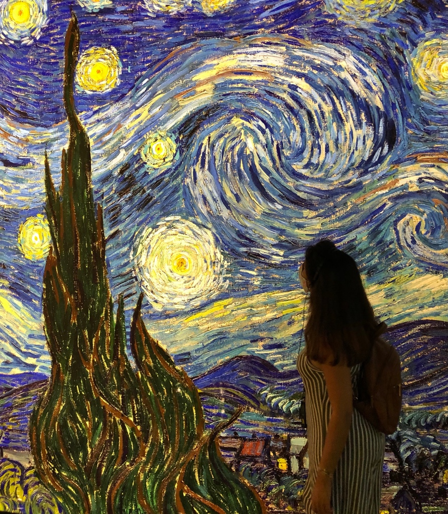 Starry night by Van Gogh. Art