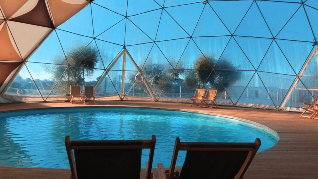 Giant pool in a dome