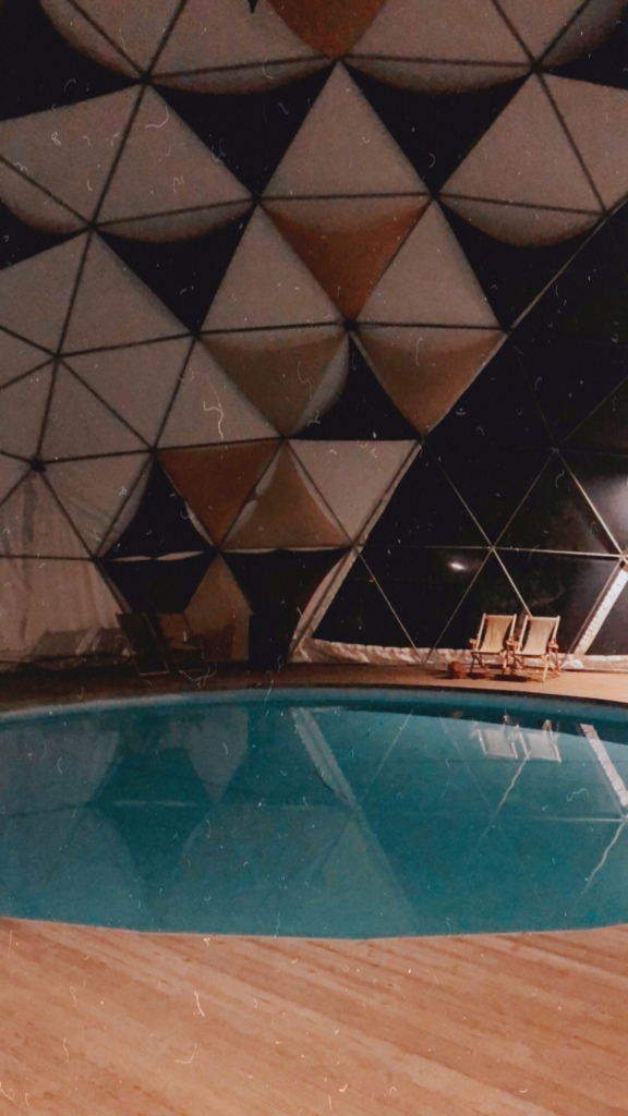 Dome pool by night